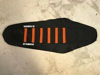 New Black & Orange YAMAHA Ribbed Seat cover YFZ450 QUAD 2004-2008 ATV YFZ