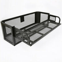 ATV UTV Universal Rear Drop Basket Rack Ramp Steel Cargo Hunting Luggage Carrier