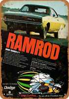Metal Sign - 1968 Dodge Charger Ramrod - Vintage Look Reproduction