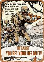Metal Sign - 1969 US Army M16A1 Rifle Manual - Vintage Look Reproduction 2
