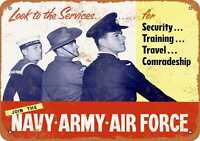 Metal Sign - 1953 Join the Navy Army Air Force - Vintage Look Reproduction