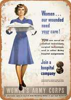 Metal Sign - 1945 Women's Army Corps - Vintage Look Reproduction