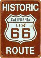 Metal Sign - California Route 66 - Vintage Look Reproduction