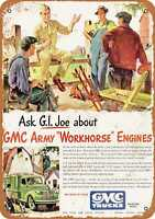 Metal Sign - 1944 GMC Army Workhorse Engines - Vintage Look Reproduction