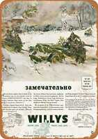 Metal Sign - 1943 Willys Army Jeeps - Vintage Look Reproduction