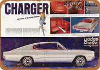 Metal Sign - 1966 Dodge Charger Fastback - Vintage Look Reproduction