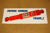 NOS Vintage AC Delco Big D Future Shocks Today Embossed Single Sided Tin Sign