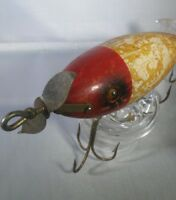 Vintage South Bend Surf Oreno Wood Glass Eyes Reinforced Hardware Fishing Lure