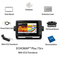Garmin ECHOMAP Plus 73cv with GT22-TM Transducer and LakeVü G3 010-01893-05