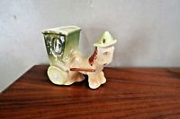Shawnee Pottery #709 Horse/Mule with Buggy planter