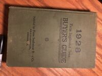 1928 Buyer's Guide. Farm Implement News *rare*