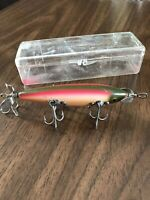 Vintage Heddon Fishing Lure 150 Dowagiac Minnow 5 Hook Lure Collectible Tackle