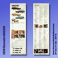 1978 Chevrolet WAGONS Vintage Auto Posters Set of 2 - 38