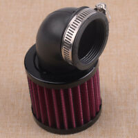90° Angled Metal Moped Scooter ATV Air Filter Mesh Intake 45 48mm Inlet Clamp