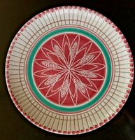 MCM Elle Keramikk Norway Pottery Plate 550-H13 Modern Abstract Hand Decorated