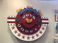 Duck Shoot Vintage Industrial Metal Light Marquee Carnival Handmade motor Sign