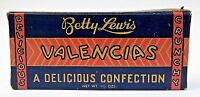 1940#x27;s Betty Lewis VALENCIA#x27;S empty candy box Movie Theater size. early