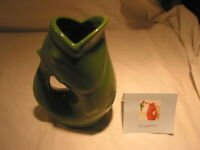 Gurglepot Gurgle Pot 2006 Green Fish Pitcher 6 1/2