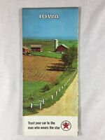 1965 Iowa Texaco Vintage Road Map Gas Oil Service Filling Station IA