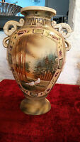 Antique Nippon Beaded Urn, Moriage, Hand painted, 15.5