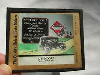 Automobile FORD  Magic Lantern Slide E.S. MOORE Mint CONDITION Oil