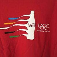 COCA COLA RIO 2016 OLYMPICS SS RED CREW NECK T SHIRT SIZE XL