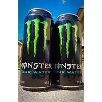 5 Can Lot! Monster Energy Tour Water Promo Cans Purified H2O RARE! Collectible!