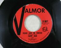 45 Record Valmor Cathy Jean Please Love Me Forever Canadian Sunset Doo Wop