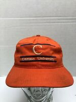 new product 08736 5ce44 Vtg 80s Clemson Tigers College University The Game Glued Tag Hat Cap