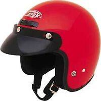 Gmax GM2 Adult & Kid's Red DOT 3/4 Open Face ATV Motorcycle Riding Helmet