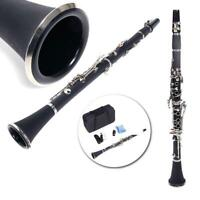 Professional School Band Bb Clarinet with Case Care Kit for Beginner Black