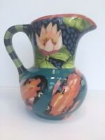 Droll Designs Pitcher with Koi Fish & Water Lilies