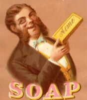 1880's Lautz Bro's. & Co's. Soap W.W Hough Groceries Boonville NY P153