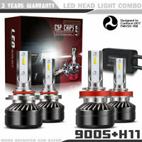 9005+H11 Combo LED Headlights High&Low Beam 6000K White 120W 12000LM PR74