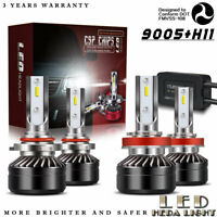 9005 + H11 Combo LED Headlights High&Low Beam 6000K White 120W 12000LM PR72