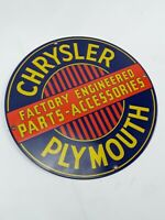 Vintage Chrysler Plymouth Porcelain Sign Gas Pump Plate 11