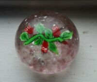 BEAUTIFUL Art Glass Paperweight Flower