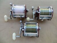 3 PENN 209 REELS AII IN THE SAME SHAPE-USED SPARINGLY & THEY WORK 100% GOOD ONES