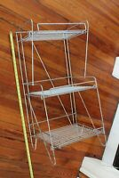 antique wire display rack - vintage store rack folding deco shelf