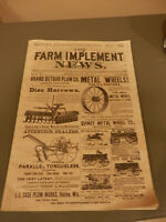 1889 FARM IMPLEMENT NEWS MAGAZINE January Issue