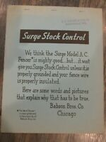 Vintage Babson Bros Surge Stock Stock Control Model A. C. Fencer