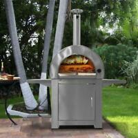 POWF-SD 304 stainless steel single door, wood fired, pizza oven.