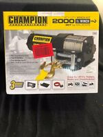 Champion Power Equipment ATV/UTV 2000 lb Winch 3 Bonus Accessories