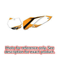 Pre-Cut Number Plate Background - White Factory Effex 12-64526 Select KTM