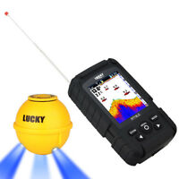 Lucky 2.8quot; Wireless Sonar 45M Fishfinder With Flash Lamp Depth Range Fish Icon