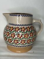 NICHOLAS MOSSE POTTERY LARGE PITCHER JUG OLD ROSE PATTERN MADE IN IRELAND