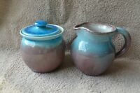Pisgah Forest Pottery Large Creamer and Lidded Sugar