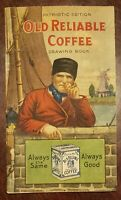 Early 1900s Old Reliable Coffee Drawing Book Patriotic Edition Dayton Spice...