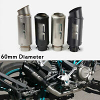 Universal Motorcycle Street Bike ATV Exhaust Tips Muffler Tail Pipe For 38-60mm