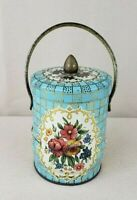 Vintage Murray Allen Tin Candy Canister Imported Made in England Container w Lid